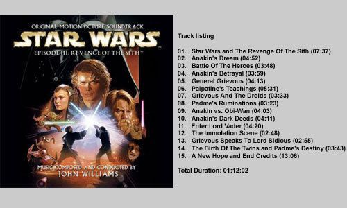 Star Wars Episode Iii Revenge Of The Sith Ost Star Wars Episode Iii Revenge Of The Sith Ost