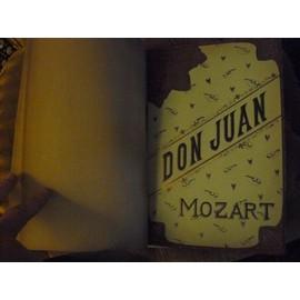 Opera DON JUAN de MOZART pour piano et voix 1887