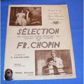Sélection de célèbres motifs entendus au concert et au cinéma de FR - Chopin