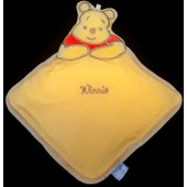 Doudou Peluche Ours Winnie Plat - Orange Rouge Marron