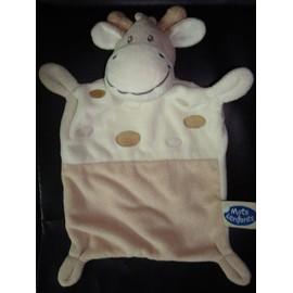 Doudou Mots D'enfants Vache/Girafe 22cm Beige/Marron