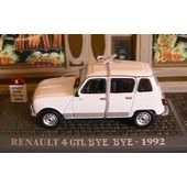 Renault 4 Gtl Bye Bye De 1992 Universal Hobbies 1/43 Blanche