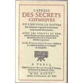 L'abrege Des Secrets Chymiqves de Pierre Jean Fabre