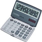 Citizen Ctc-110 Calculatrice Poche Gris/Argent