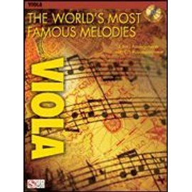 The world's most famous melodies for viola (+ 1 CD) - alto - Hal leonard