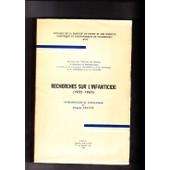 Recherches Sur L Infanticide (1955-1965). Annales De La Facult� De Droit Et De Sciences Politiques Et �conomiques De Strasbourg Xvii de Collectif