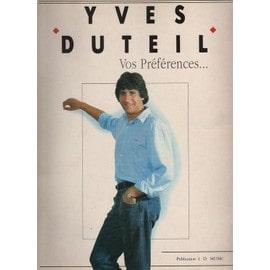 Yves Duteil Vos préférences