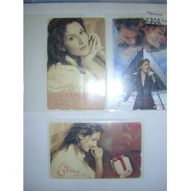 lot de 3 CARTES TELEPHONIQUE DU JAPON DE CELINE DION