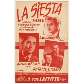 la siesta (dario moreno / jacques hélian / patrice & mario)
