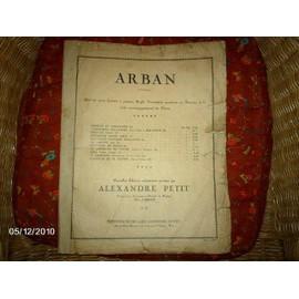 ARBAN (oeuvres pour cornet à pistons, bugle, trompette moderne ou baryton sib. avec accompagnement au piano
