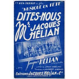 """dites-nous mr jacques hélian (fox-sketch du film """"musique en tête"""") / jacques hélian et son orchestre"""