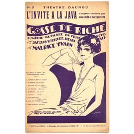 """l'invite à la java (de la comédie musicale """"gosse de riche"""" 1924, théâtre daunou) / créé par alice cocéa et henry defreyn"""