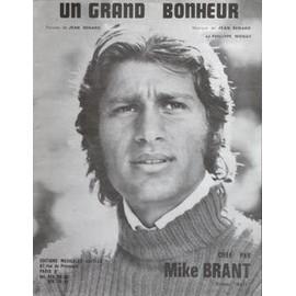 UN GRAND BONHEUR - MIKE BRANT - PARTITION MUSIQUE - 1970