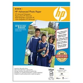 Papier Photo Hp A4 Brillant 250g Q8698a - Paquet De 50f