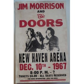 Jim morrison and the doors - affiche 55x35 cm