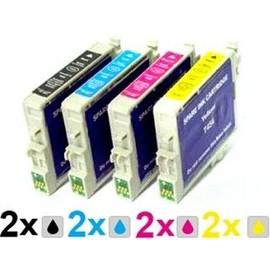 8 Cartouches D'encre Compatible Epson Pour Dx 4400/ Dx 6000