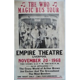 the who en concert in concert affiche - 35x35 cm