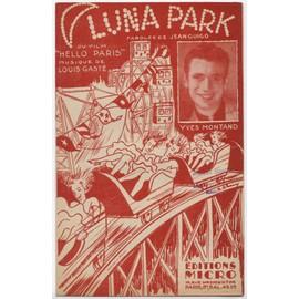 """luna park (chanson du film """"hello paris"""") / yves montand"""