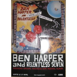 BEN HARPER PLAN MEDIA POSTER AND RELENTLESS SEVEN