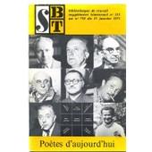 S Bt Biblioth�que De Travail Suppl�ment N� 335 : Po�tes D'aujourd'hui (P�dagogie Freinet Pour Le Travail Libre Des Enfants De 10 � 16 Ans) de Charbonnier C