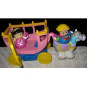 Little People - Carrosse Avec Princesse, Prince, Cheval Extension Du Chateau
