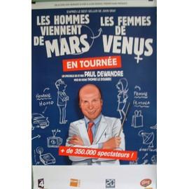 """Affiche 80x120 cm du spectacle """"Les hommes viennent de mars et les femmes de vénus"""""""