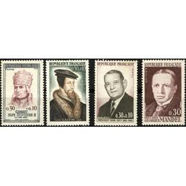 Célébrités, Personnages Célèbres 1964  (ref. Y&T : 1412-1420-1421-1423). Non oblitérés.
