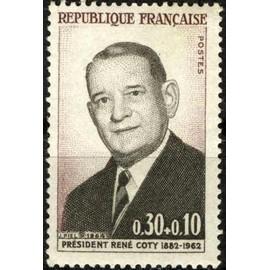 Président René Coty 1964  (ref. Y&T : 1412). Non oblitéré.