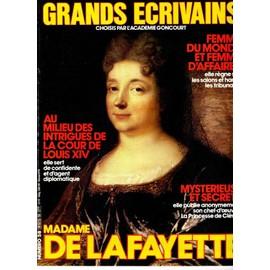 Grands �crivains N� 58 : Madame De Lafayette