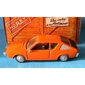 Renault 17 Orange De 1974 Norev Hachette 1/43 Boite Carton