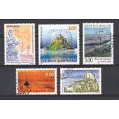 France, 1998, S�rie Touristique (Dunkerque, Le Mont Saint-Michel, �le De Noirmoutier, La Baie De Somme, Ch�teau De Crussol), Timbres Parmi Les N�3164 & 3165 + 3167 � 3169, Neufs Ou Oblit�r�s.
