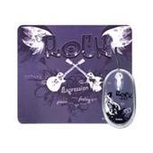 Saitek Expressions Mouse & Mat Rock Chick - Souris