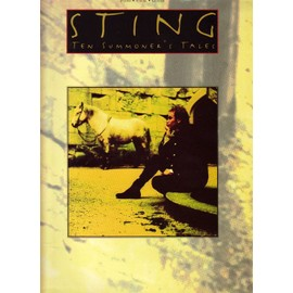sting - song book: ten summoner's tales - piano vocal guitar