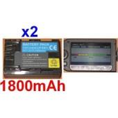 Pack de 2 Batteries Pour CANON LP-E6 LPE6 EOS 5D Mark II, **INFOCHIP** **1800mAh**