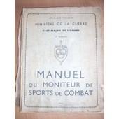 Manuel Du Moniteur De Sports De Combat de Collectif