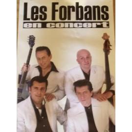 LES FORBANS en concert Affiche 60 x 40 cm. 5B Productions. 2009