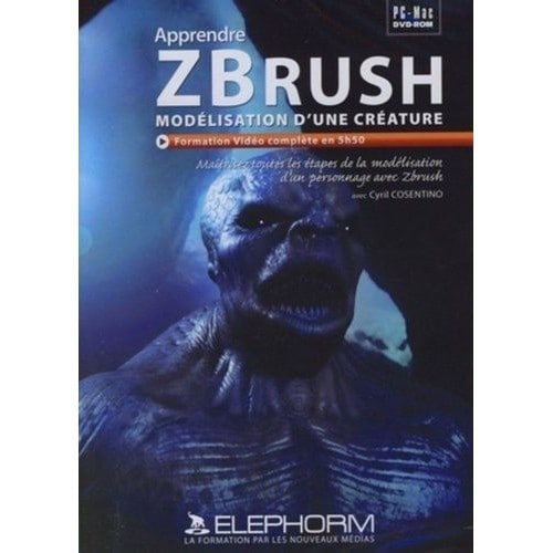 Apprendre Zbrush - Modélisation D'une Créature (Cyril Cosentino)