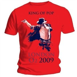 T-SHIRT MICHAEL JACKSON ROUGE LONDON 2009 XL (T-SHIRT TAILLE EXTRA LARGE)