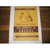 Mon M�mento De Calcul - Programme Complet, Cours De Fin D'�tudes Primaires de Calcul