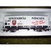 Wagon Couvert Metallique 2 Essieux Spatenbrau M�nchen Ref 6261 En Boite Jouef