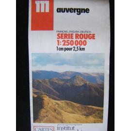 CARTE IGN N° 111 -AUVERGNE - Ign Ign