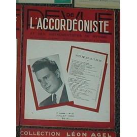 Revue de l'accordeoniste et des instruments à rythme N°57 de 1950 (dancing, cabaret, musichall,cinema et radio )