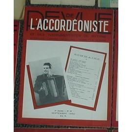 Revue de l'accordeoniste et des instruments à rythme N°59 de 1950 (dancing, cabaret, musichall,cinema et radio )