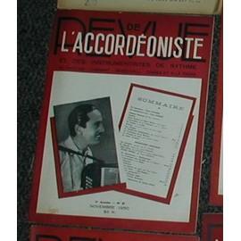 Revue de l'accordeoniste et des instruments à rythme N°61 de 1950 (dancing, cabaret, musichall,cinema et radio )