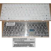 Clavier Qwerty Italien / Italian Pour ASUS EeePc EPC 1000 1000H 1000HE Series, Blanc / White, Model: 0KNA-0U4IT03, P/N: 9J.N1N82.00E, 04GOA0U1KIT10-3
