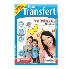 Papier Transfert Pour Textiles Clair A4 - 10 Feuilles
