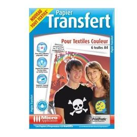 Papier Transfert Pour Textiles De Couleur - A4 - 6 Feuilles