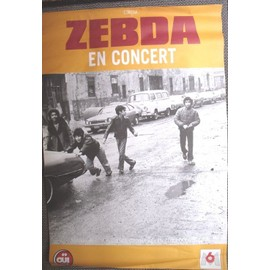 """""""ZEBDA"""" En concert (essence ordinaire) affiche (120x80cm)"""