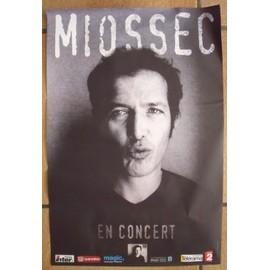 Affiche de tournée Miossec, 70 x 100 cms