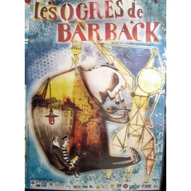LES OGRES DE BARBACK Affiche de concert 60x40